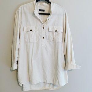 Zara Quarter Button Shirt